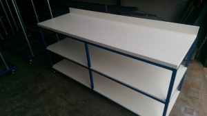 Clothes sorting bench